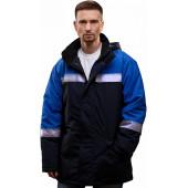 Куртка ИРТЫШ утепленная, ткань Смесовая, цвет т.син.-василек