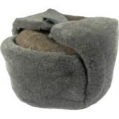 Шапка-ушанка солдатская ОВ серая искусственный мех