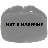 Шапка-ушанка ВМФ черная искусственный мех