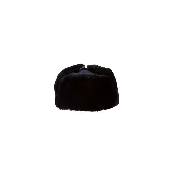 Шапка-ушанка ВМФ черная нат мех, верх сукно