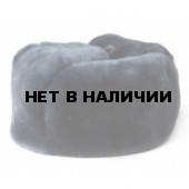 Шапка-ушанка комб.мех овчина темно-синяя сукно