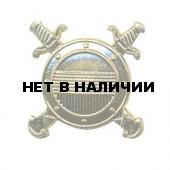 Эмблема петличная Внутренней службы МВД золотая металл