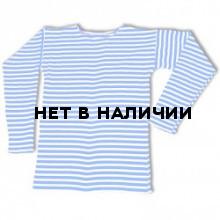 Тельняшка двойной вязки хб голубая