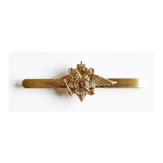 Зажим для галстука МВД женский золотой металл