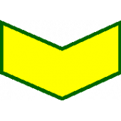 Нашивка на рукав годичка - 5 лет (жёлтый на оливке) вышивка шелк