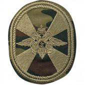 Нашивка на рукав Внутренние Войска овал полевая пластик