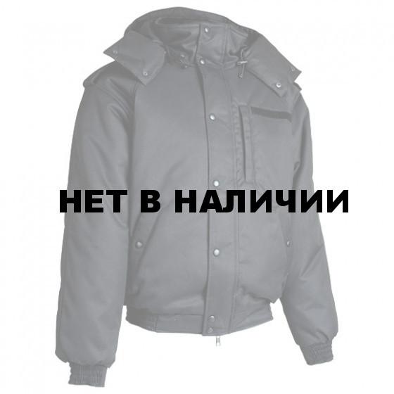 Куртка зимняя укороченная Б-52 черная с капюшоном