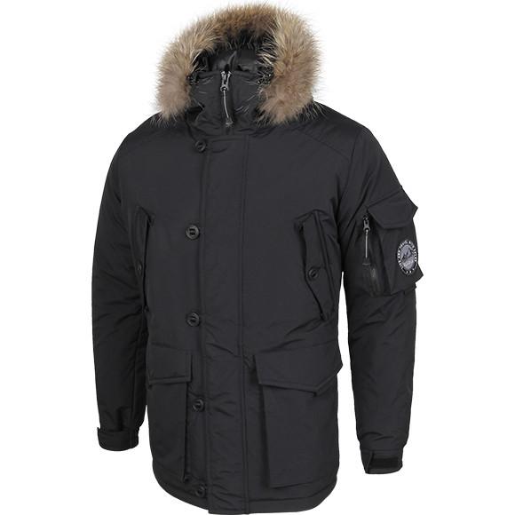 Куртка Аляска черная каматт натуральный мех, производитель Компания ... 54d127a52f5