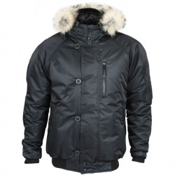 Куртка Аляска укороченная черная твил
