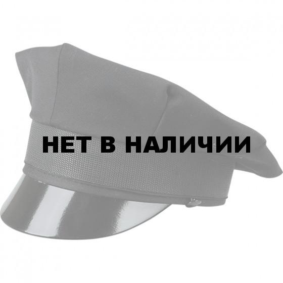 Фуражка охранника черная (8-ми клинка)
