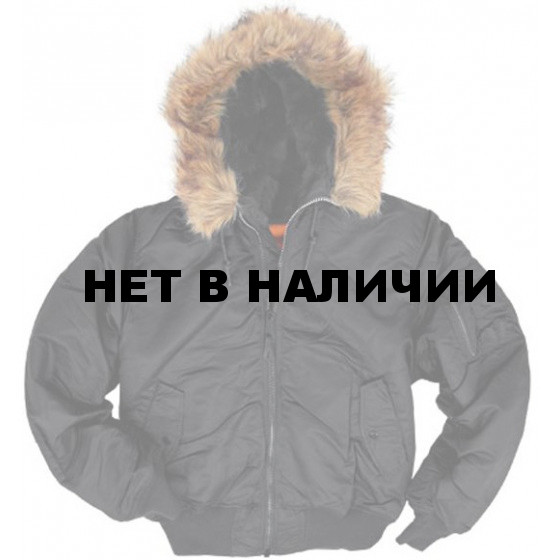 Куртка Hooded Ma-1 Black Alpha Industries
