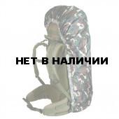 Накидка на рюкзак без швов цифровая флора 90-130 л