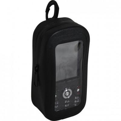 Чехол влагозащитный для телефона с карабином (черный)