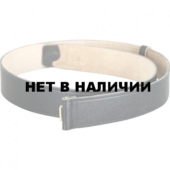 Ремень солдатский черный (кожа) б/бляхи