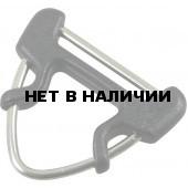 Пряжка полукольцо треугольное металл-пластик 25мм 1-50012 черный Duraflex