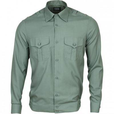 Рубашка форменная, длинный рукав, зеленая