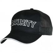 Бейсболка с сеткой Security черная объемная вышивка