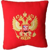 Подушка сувенирная Герб РФ вышитая