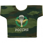 Рубашка-сувенир Россия ВДВ камуфлированная вышивка