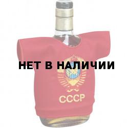 Рубашка-сувенир Герб СССР красный фон вышивка