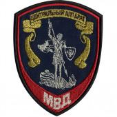 Нашивка на рукав Центральный аппарат МВД России Внутренняя служба вышивка люрекс