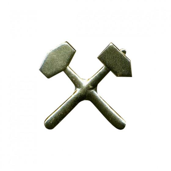 Кокарда ВГСЧ металл