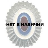 Кокарда МВД на пилотку серебро металл