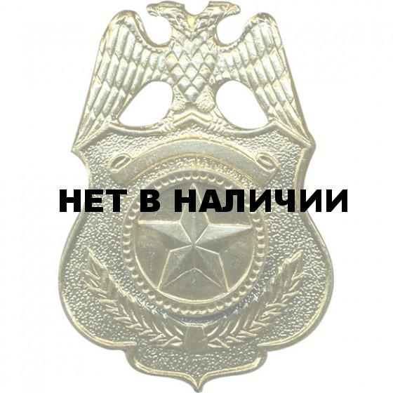 Кокарда Охрана металл