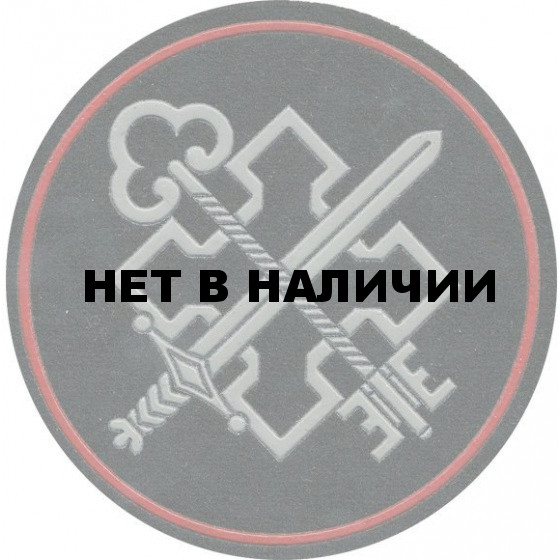 Нашивка на рукав Госэкспертиза МО РФ пластик
