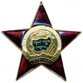 Нагрудный знак Ветеран Афганской войны звезда металл