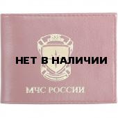 Обложка МЧС Российской Федерации с металлическими уголками кожа