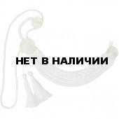 Аксельбант кадетский белый шелк