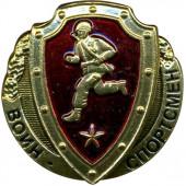 Нагрудный знак Воин - спортсмен звезда томпак