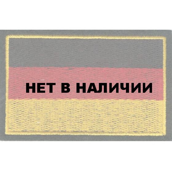 Нашивка на рукав Флаг Германии 30Х55 мм вышивка шелк