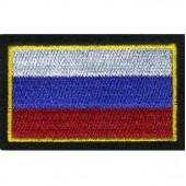 Нашивка на рукав Флаг РФ 55х90мм вышивка люрекс