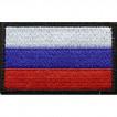 Нашивка на рукав Флаг РФ фон оливковый с липучкой вышивка шёлк