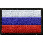 Нашивка на рукав Флаг РФ с липучкой вышивка шёлк