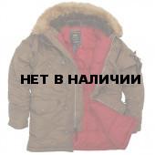 Куртка Slim Fit N-3B Parka Brown Alpha Industries