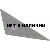 Нашивка на берет Угол-МЧС черная тканая
