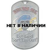 Жетон 2-11 KILLEM ALL голубой берет металл