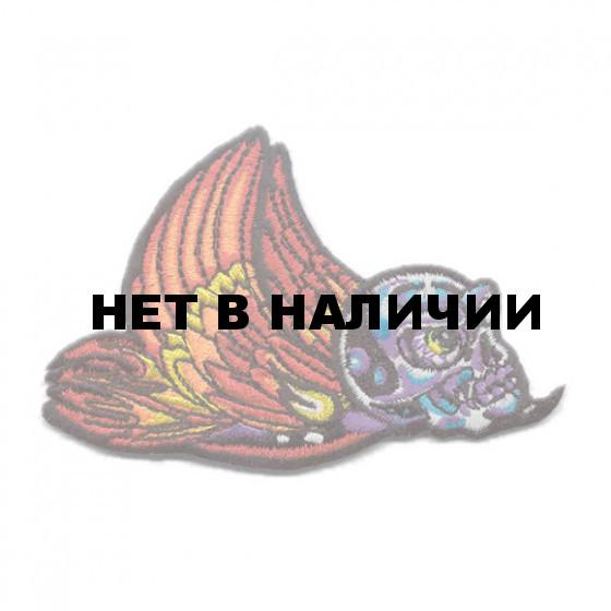 Термонаклейка -0107 Череп окрыленный вышивка