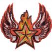 Термонаклейка -0141 Winged Soviet Star вышивка