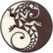 Термонаклейка -0596.3 Harmony БЕЛЫЙ и ЧЁРНЫЙ вышивка