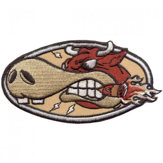 Термонаклейка -0698 Скоростной бык вышивка