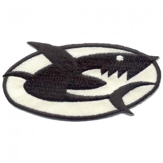 Термонаклейка -0702 Акула вышивка