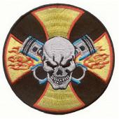 Термонаклейка -0869 Череп на мальтийском кресте вышивка