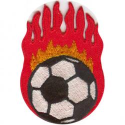 Термонаклейка -14221155 Футбольный мяч в огне вышивка