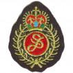 Термонаклейка -1436 Герб с красной короной вышивка