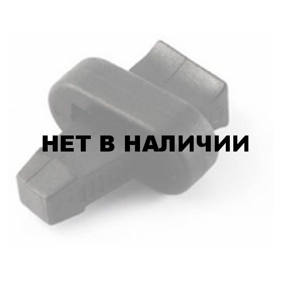 Зажим для шнура с клином L P851 (L) черный Duraflex