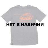 Футболка M4A2 Sherman Heather Gray/Orange Alpha Industries